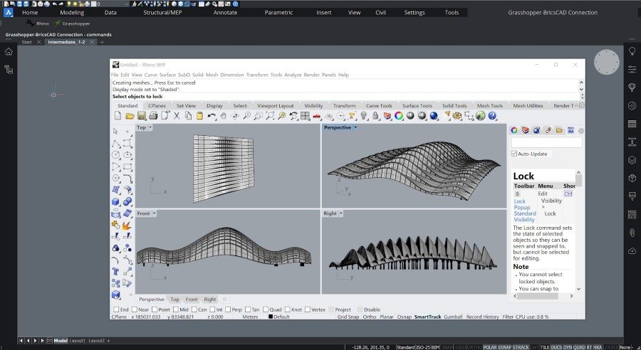 BricsCAD Grashopper